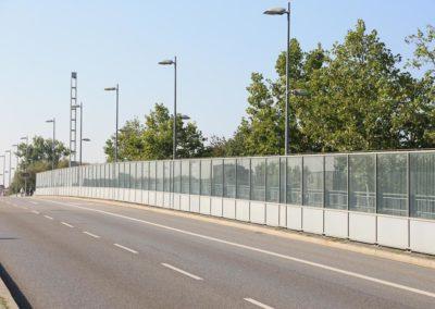 Lärmschutzwand Nibelungenbrücke